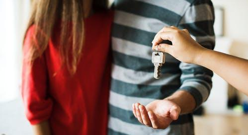 handing over home keys